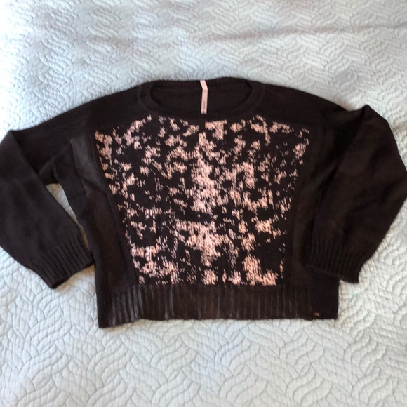 Patterned Crop Sweater